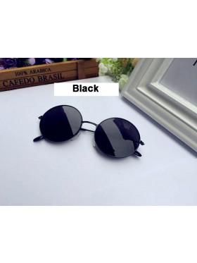 Black Retro 80s Round Frame Glasses 1980s