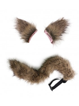 Kamisama Fox Wolf Tails and Ears Costume Accessory
