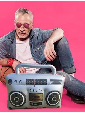 "19"" 1980s Hip Hop Inflatable Boom Box Radio"