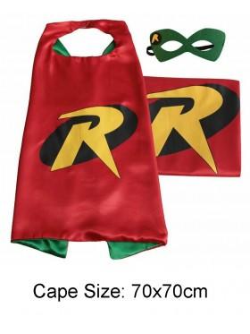 Kids Robin Cape and Mask Superhero Set
