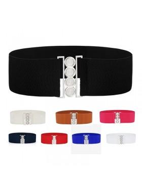 1950s Stretch Elastic Waist Stretch Belt Plus Size