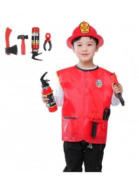 Children Fire Fighter Fireman Costume
