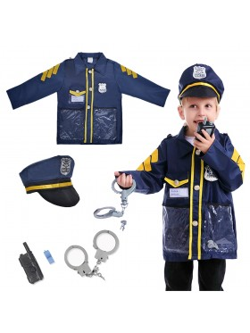 Children Police Force Costume