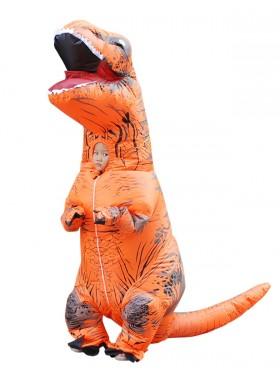 Orange Kids T-Rex Blow up Dinosaur Inflatable Costume