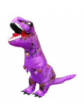 Purple Kids T-Rex Blow up Dinosaur Inflatable Costume