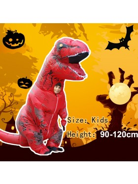 Red Kids T-Rex Blow up Dinosaur Inflatable Costume