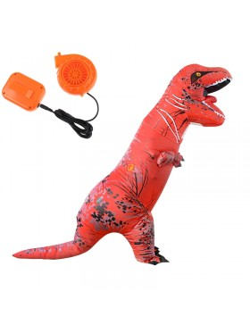 Red ADULT T-REX INFLATABLE Costume Jurassic Blowup Dinosaur TRex T Rex