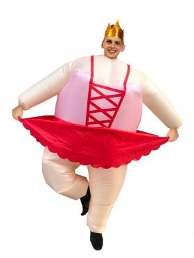 Adult ballet dancer inflatable costume