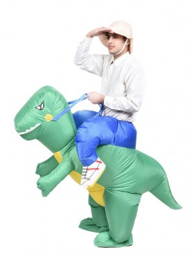 Adult Dinosaur t-rex carry me inflatable costume