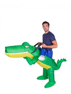 Adult Crocodile alligator carry me inflatable costume