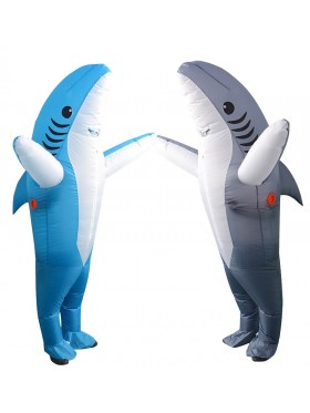 Adult Shark carry me inflatable costume