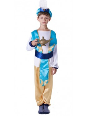 Boys Arabian Genie Aladdin Arab Prince Costume Childrens Kids Book Week Costume