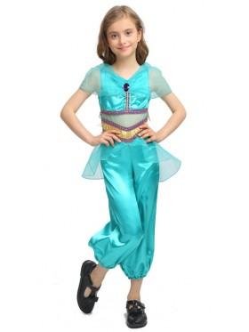 Girls Arabian Genie Aladdin Arab Jasmine Princess Costume Belly Dancer Childrens Kids Book Week Costume