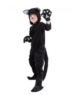 Black Cat Book Week Animal Jumpsuit Boys Girls Kids Costume