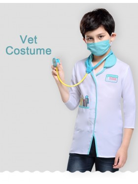 Kids Occupation Uniform Costume Doctor Surgeon Hospital Scientist School