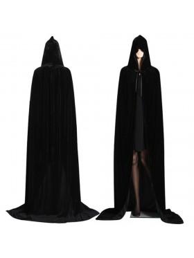 Black Kids Hooded Cloak Cape Wizard Costume