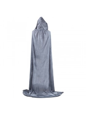 Grey Kids Hooded Cloak Cape Wizard Costume