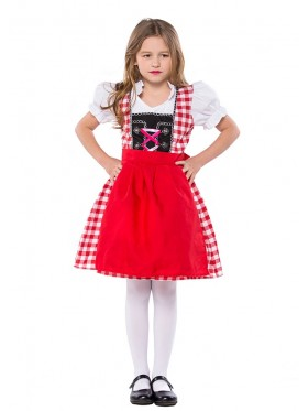 Bavarian Oktoberfest Beer Maid German Fancy Dress Up Girls Costume Kids Book Week