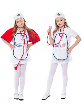 Child Nurse Costume Girls