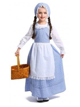 Girls Poor Victorian Maid Costume Retro Nanny Book Week Olden Days