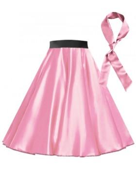 Pink Satin 1950's 50s skirt