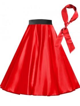 Red Satin 1950's 50s skirt