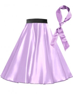 Light Purple Satin 1950's 50s skirt
