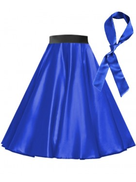 Royal Blue Satin 1950's 50s skirt