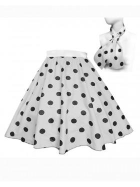 Ladies 1950's Rock n Roll Dot Style skirt