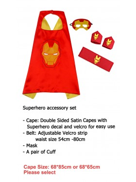 Iron man Cape & Mask Costume set Superhero