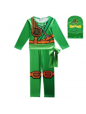 Green Ninjago Ninja Kids Costume