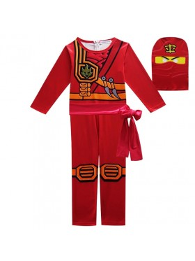 Red Ninjago Ninja Kids Costume