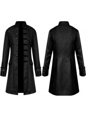 Black STEAMPUNK TAILCOAT JACKET