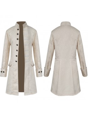 Cream STEAMPUNK TAILCOAT JACKET