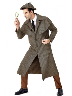 Adult Sherlock Holmes Victorian Detective Costume