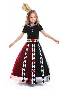 Kids Alice in Wonderland Queen of Hearts Costume