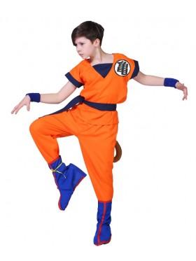 Mans Dragon Ball Z Goku Costume + Wig