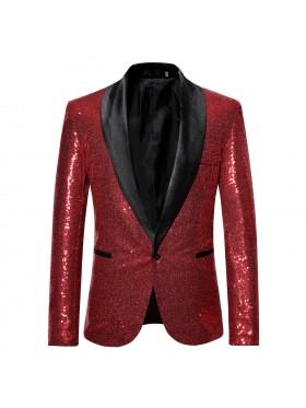 Red Tuxedo Suit Jacket Costume