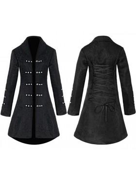 Ladies Black Vintage Tailcoat