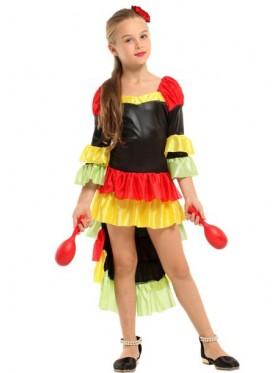 Girls Spanish Senorita Flamenco Costume