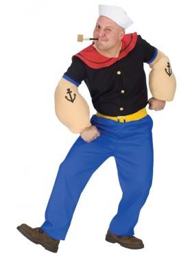 Mens Popeye Sailor Humourous Men Adult Costume