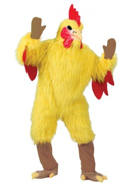 Mens Gents Adults Chicken Rooster Fancy Dress Costume