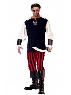 Mens Buccaneer Pirate Man Halloween Costume Fancy Dress Party Dress Outfit Hat