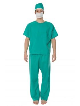 ER Surgeon Doctor Mens Medical Scrubs Fancy Dress Halloween Costume