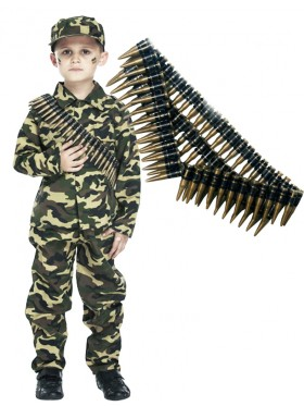 Kids Army Military Costume