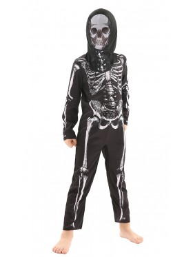 Boys skeleton Jumpsuit Costume