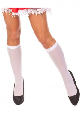 Sexy White knee stockings