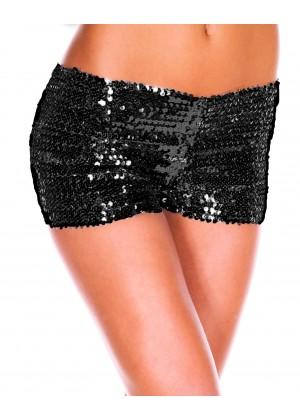 Black Sequin short Ladies