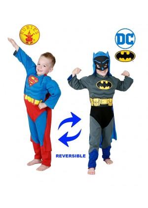 Boys Batman To Superman REVERSIBLE Costume  cl0135