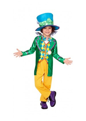 MAD HATTER BOYS Alice DELUXE COSTUME CHILDREN BOOK WEEK IN WONDERLAND
